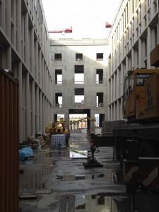 05.12.2015 Baustellenbesichtigung Durchblick zum Lustgarten